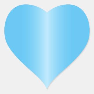 Hjärtformade blåttsatänglutning hjärtformat klistermärke