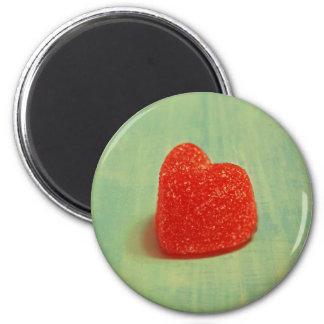Hjärtformade gelékaramell magnet