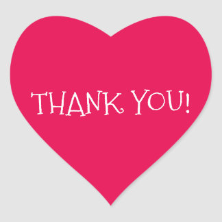 Hjärtformade klistermärke för tack