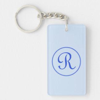 Hjärtor för blått för brev R för Monogram cirklar