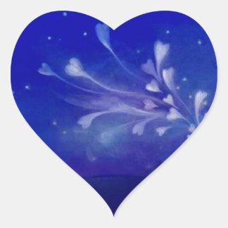 Hjärtor för romantiker för stjärnor för hjärtor hjärtformat klistermärke
