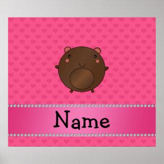 Hjärtor för rosor för personlignamnbjörn poster