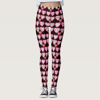Hjärtor för valentineskärlekgodis och leggings