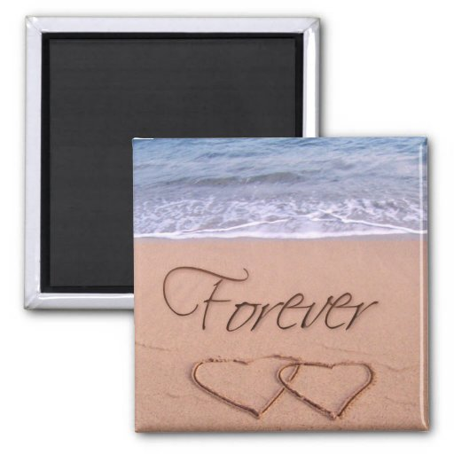 Hjärtor i sandför evigt magneter för kylskåp