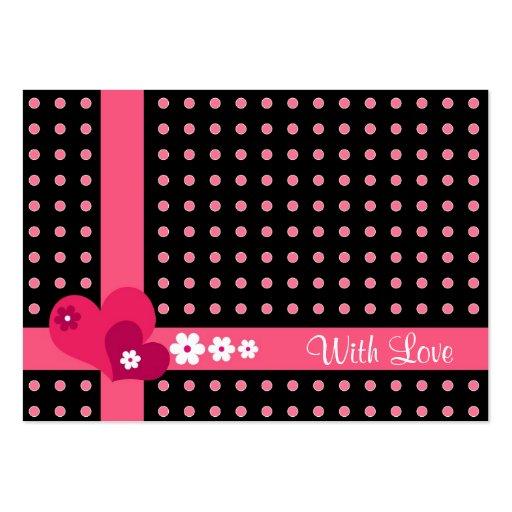 Hjärtor och blommor - GiftCard Visitkort