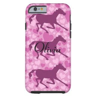 hjärtor och hästar tough iPhone 6 fodral
