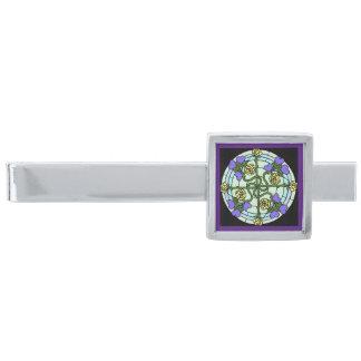 Hjärtor och pläterad slipshållare för ro silver slipsnål med silverfinish