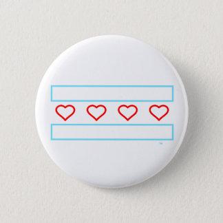 Hjärtor och randför evigt - öppna hjärtor sjunker standard knapp rund 5.7 cm