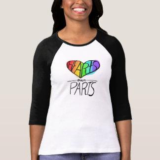 Hjärtor över pride för delar LGBT T Shirts
