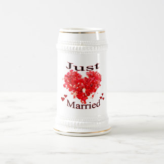 """Hjärtor Stein """"för ny gifta"""" röd rosPetal Sejdel"""