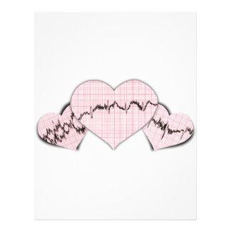 Hjärtor tillsammans brevhuvud