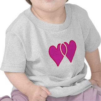 Hjärtor tillsammans de MUSEUMZazzle gåvorna T Shirts