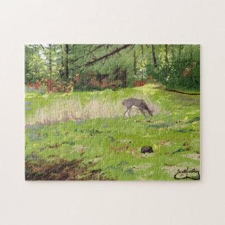 Hjort i ängen pussel med foto