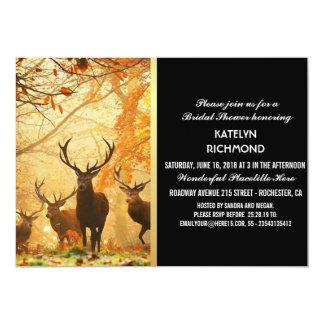 Hjort i höstsolen rays den /Wedding inbjudan
