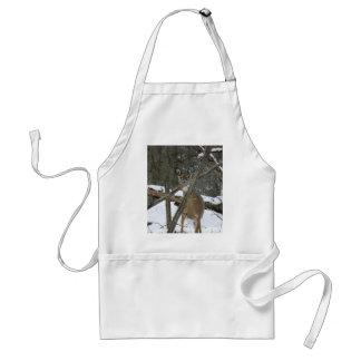Hjort i skogenförklädet förkläde