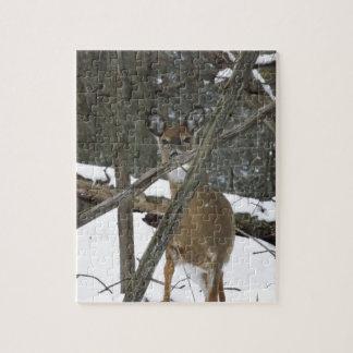 Hjort i skogenpussel pussel