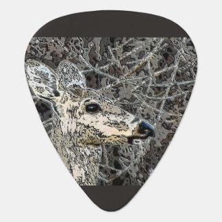 Hjort i vildgitarrplockan plektrum