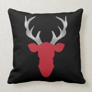 Hjort kudder, hjorthuvudet, horn på kronhjort, kudde