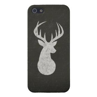 Hjort med horn på kronhjortkritateckningen iPhone 5 hud