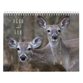 Hjort- och älg2015 väggkalender - djurliv kalender