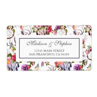 Hjortdöskallar, blommor & drömstoppare - bröllop fraktsedel