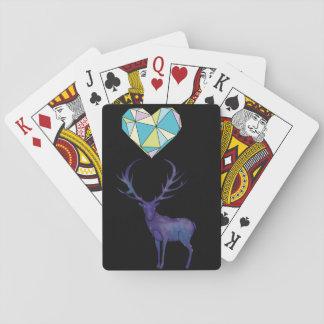 Hjorthjärta som leker kort spel kort