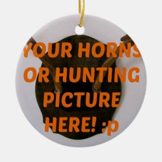 Hjortjägare som jagar lägg till bild jul julgransprydnad keramik