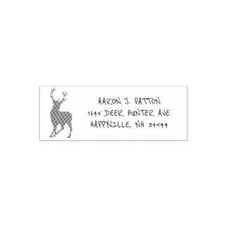 Hjortjägarereturadress Självfärgande Stämpel