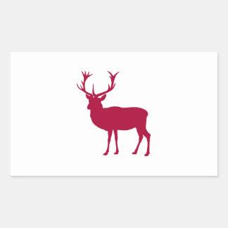 Hjortjul eller svensexa för europé röd rektangulärt klistermärke