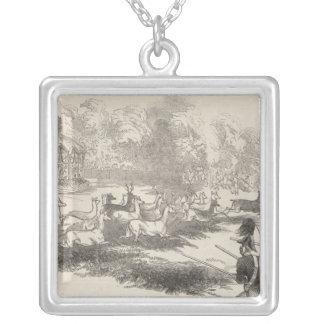 Hjortskyttet på Gotha Silverpläterat Halsband