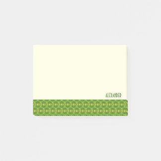 Hjulmönstervåren färgar beställnings- text post-it block