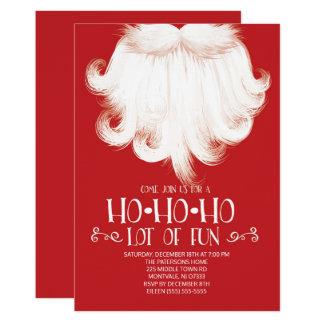 HO HO HO för Santa för raddor roligt party jul 12,7 X 17,8 Cm Inbjudningskort