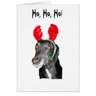 Ho Ho Ho! Horn på kronhjort Hälsningskort