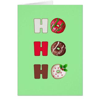 Ho Ho Ho Julhälsningar munkjulen kortet Hälsningskort