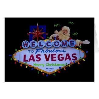 HO HO HO Las Vegas god julSANTA kort