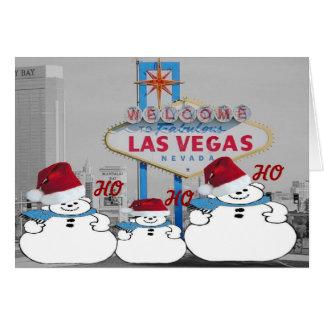 HO HO HO Las Vegas julkort Hälsningskort