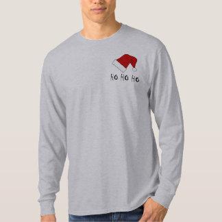 Ho Ho Ho manar för julSanta hatt T-tröja för LS T Shirts