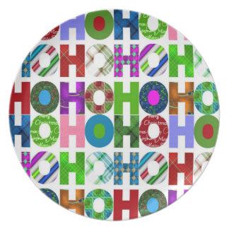 Ho Ho Ho pläterar helgdag Tallrik