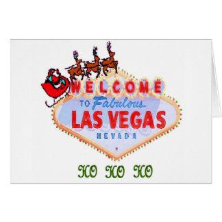 HO HO HO undertecknar Santa & renar på Las Vegas k Hälsnings Kort