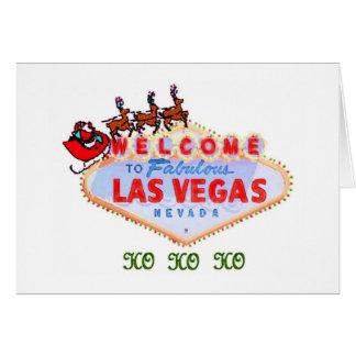 HO HO HO välkomnande till den Las Vegas julkortet Kort