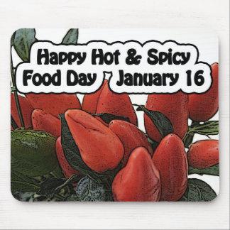 Hoad & kryddig matdag Mousepad Januari 16 för lyck Musmatta