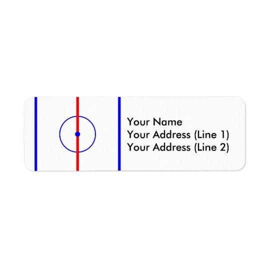 Hockey centrerar is & blålinjen returadress etikett