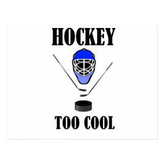 Hockey för coolt vykort