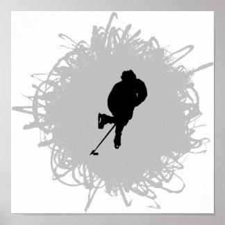 Hockey klottrar stil poster