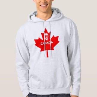 Hockey maskerar på den Kanada lönnlövet Tröja Med Luva