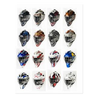 Hockey maskerar vykort