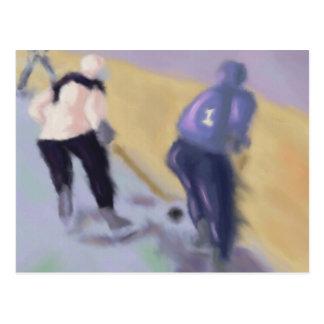 Hockey mot stiger ombord vykort