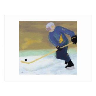 Hockey övar vykort
