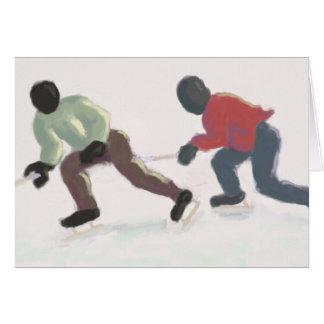 Hockey som snubblar, hälsningkort hälsningskort