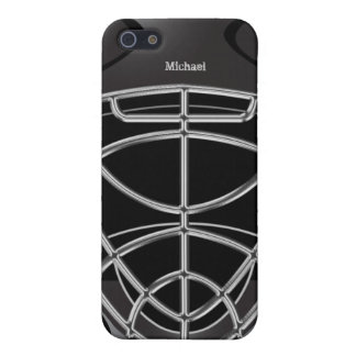 HockeyGoaliehjälm iPhone 5 Cases